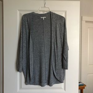 Gray Stretchy Wrap Sweater